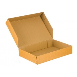 20 stk Papkasser 306x213x55 mm Brun