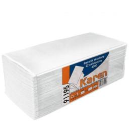 Papir håndklæde 2 lag  ZZ - 3200 stk. hvid