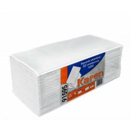 Papir håndklæde 1 lag  ZZ - 5000 stk. hvid