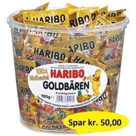 Haribo Mini Guldbamser 100 stk