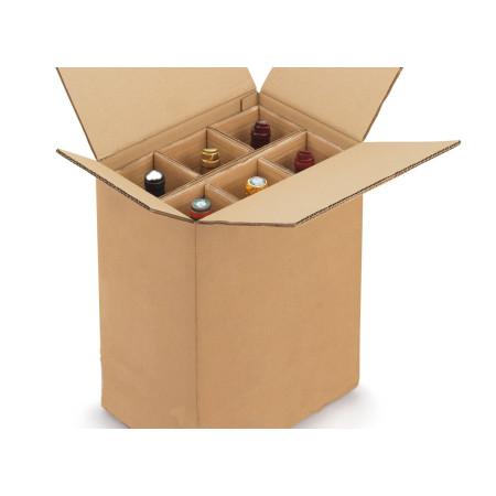 Papkasse til vin  - 6 flasker / 20 stk.