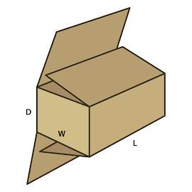 Papkasser 300x150x150 mm