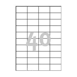 4000 stk. etiketter 52,5 x 29,7 mm